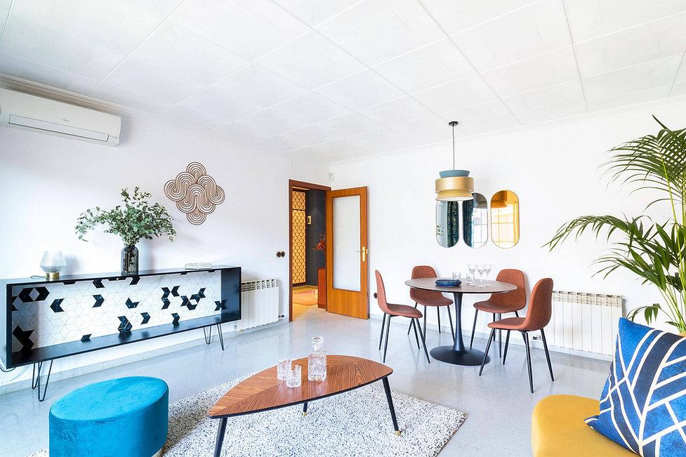 Exclusivo salon decorado por Sebastien Robert con muebles modernos artdeco
