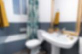 Dessiné en deux tons de peinture spéciale pour salle de bain avec Sébastien Robert