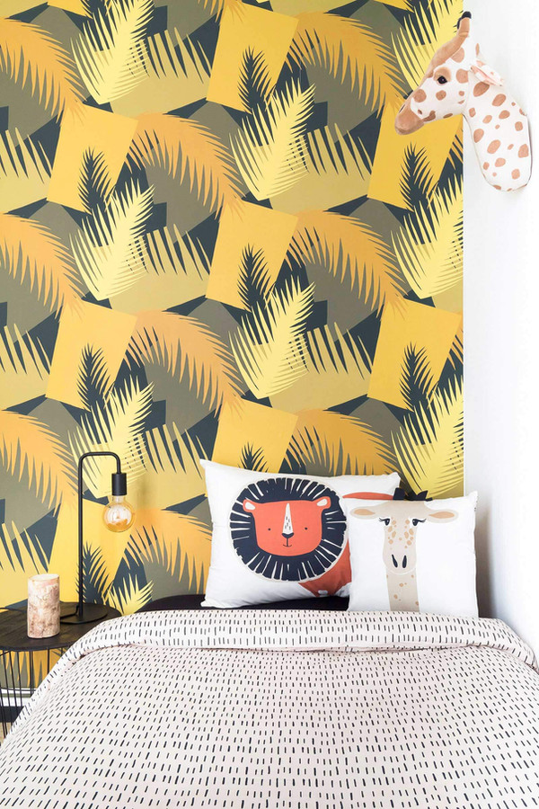 GEOMETRIC II Wallpaper: Deco Palm from Aribau wallpapers