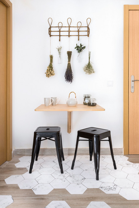 Sébastien Robert created this dining space by changing the floor