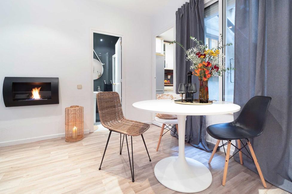 Living room with dark gray sofa söderhamn Ikea