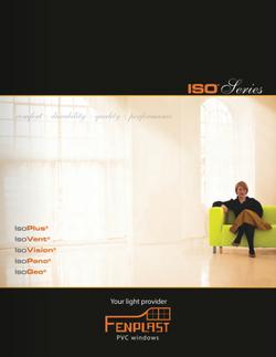 Fenplast PVC window brochure