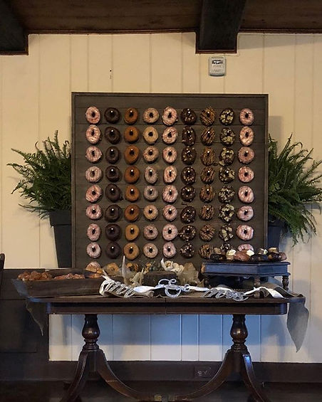 Check out this Donut wall from Kris & Ga