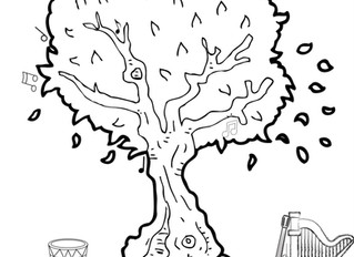 """Musical Colouring Page ~ """"The Musical Tree"""""""
