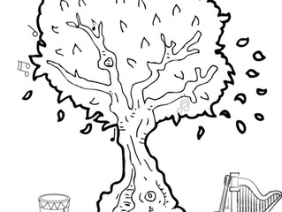 "Musical Colouring Page ~ ""The Musical Tree"""