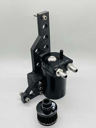 Oil catch can with bracket