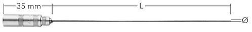 EX termoføler TPN 110-xxx-EX, Ø 1.0 mm