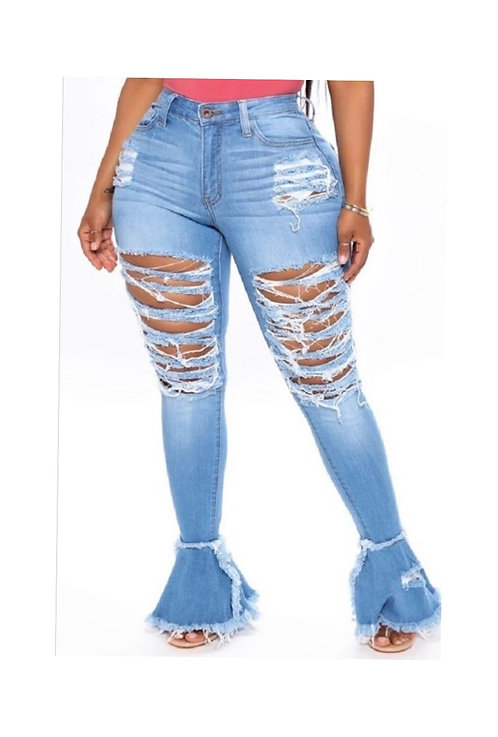 Rude Gal Flare Jeans