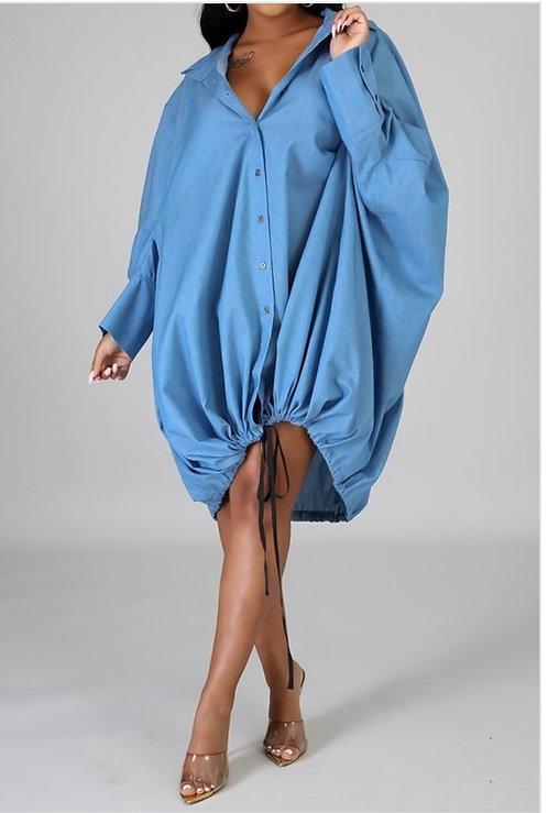 Boyfriend Lookalike ButtonUp Dress