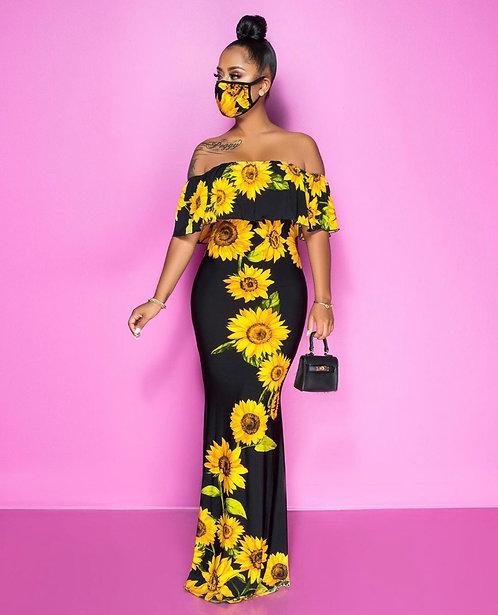 Sunflower Me Maxi Dress