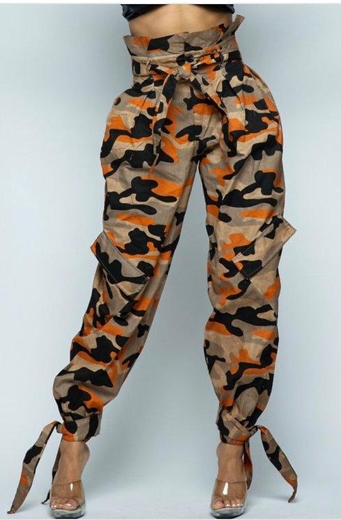 Camo Cadet Orange Pants