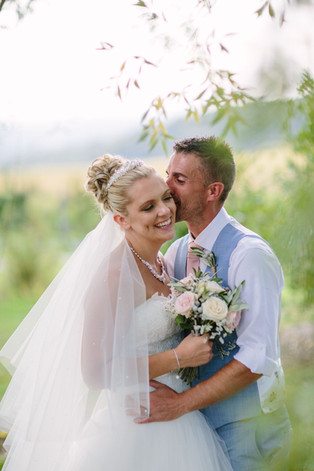 Husband and Wife in South of France Wedding