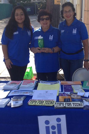 Youth and Family Couneling Agency team members at the Oyster Fest in Oyster Bay, New York