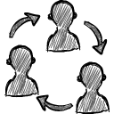 Group with arrows icon