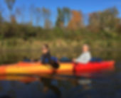Kayakers enjoying a paddle in Vermont