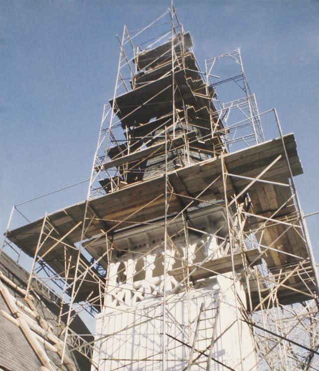 Scaffolding Slate Roof