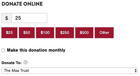 Donate to The Maa Trust via Sidekick Fou