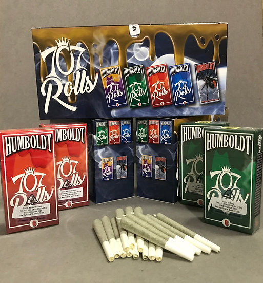 Humboldt Premium Cannabis 707 Rolls, Pre-rolled Packs, Carton of 10