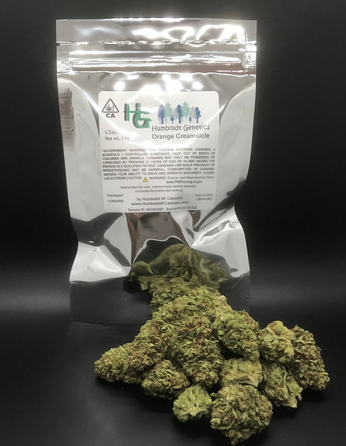 Humboldt Genetics Sungrown 1/2oz Orange Creamsicle (13.89% THC) 14g