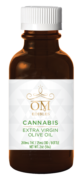 OM Edibles Extra Virgin Olive Oil 200mg THC/25mg CBD 2.0oz