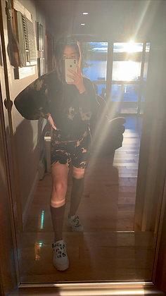 Reverse Dyed Biker Shorts