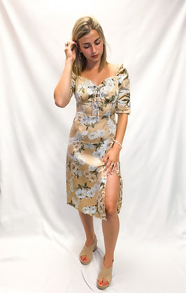 Satin Bloom Dress