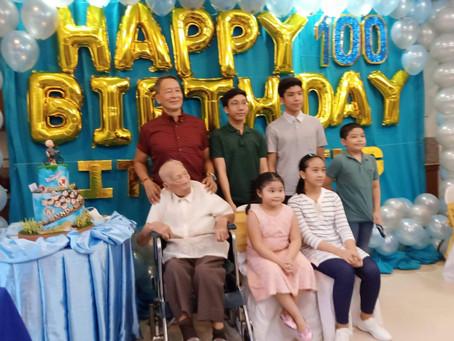 Former Vice Mayor Dominador O. Ambayec, nagdaos ng ika-100 taong kaarawan