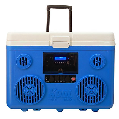 KoolMax 40 Qt. Wheeled Cooler, BlKoolMuetooth PA System and Power Station