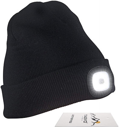 TAGVO USB Rechargeable LED Beanie Cap