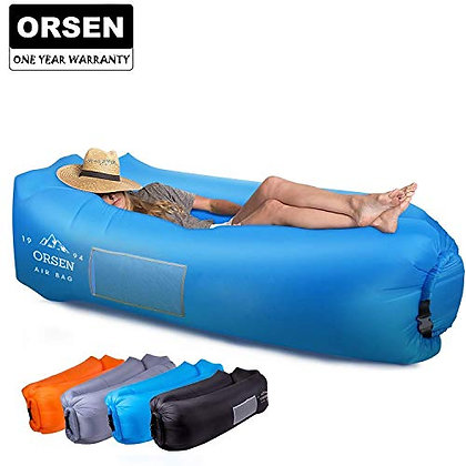 Orsen Inflatable Lounger Portable Hammock Air Sofa with Water Proof,Anti-Air Lea