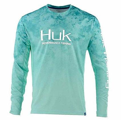 Huk Men's Icon X Camo Fade Long Sleeve Shirt-XL