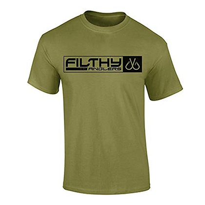 Filthy Anglers Men's Fishing T-Shirt-Military green