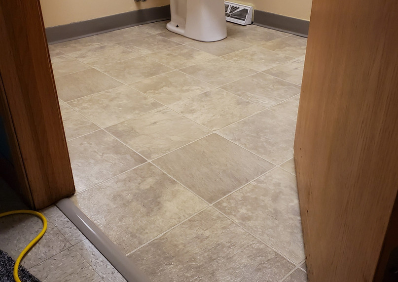 after tile floor cleaning
