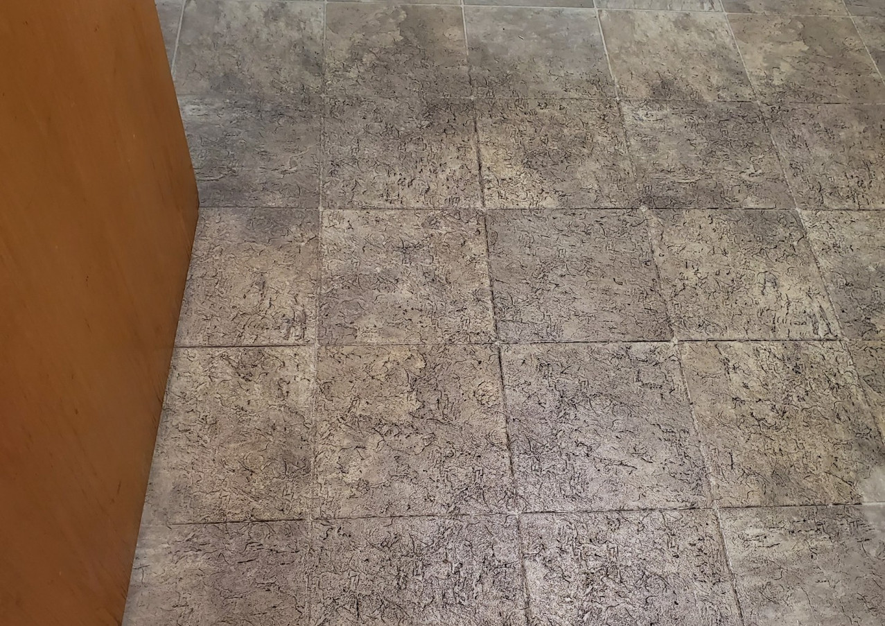before tile floor cleaning