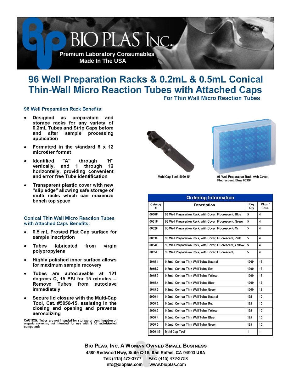 Bio Plas PCR-Consumables for Thermal Cyc