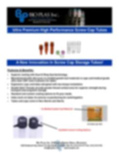Bio Plas UPHP Screw Cap Storage Tubes .j