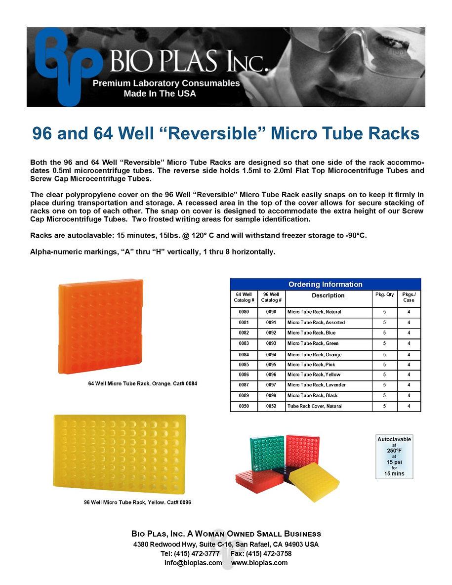 Bio Plas 96  64 Well Micro Tube Racks 20