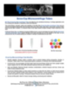 Bio Plas Screw Cap Microcentrifuge Tubes