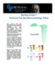 Bio Plas G-Tube Flat Top Microcentrifuge