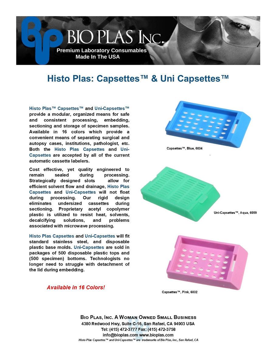 Bio Plas Histo Plas Capsettes Uni-Capset