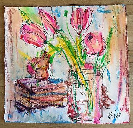 Fleurs with Book 9%22x8 1:2.jpg