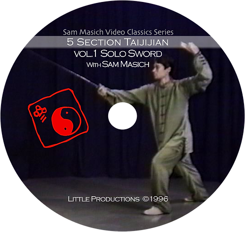 5 Section Taijiquan Solo Sword Form DVD