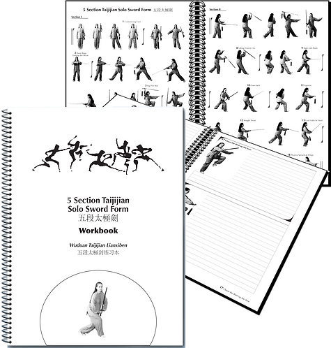 5 Section Taijiquan Solo Sword Form WORKBOOK