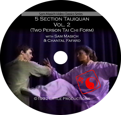 5 Section Taijiquan Partner Bare-hand Form  DVD