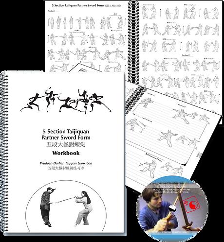 5 Section Taijiquan Partner Sword DVD & Workbook BUNDLE