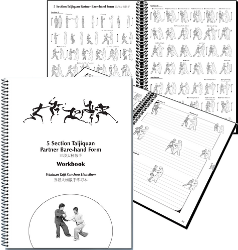 5 Section Taijiquan Partner Bare-hand Form WORKBOOK