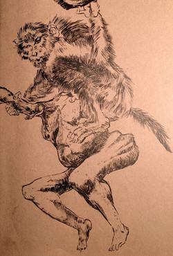 Monkey is Man's Master (brush)