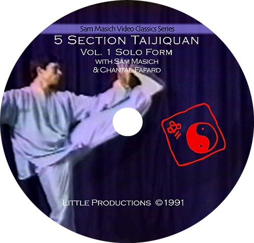 5 Section Taijiquan Solo Bare-hand Form (Yang-style) DVD