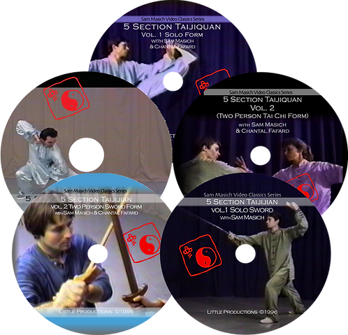 5 Section Taijiquan DVD Bundle
