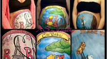 Belly Paintings are an Awesome Memento